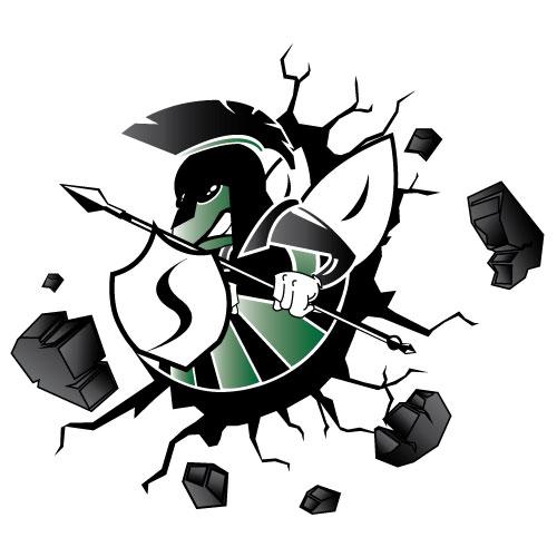 spectrum-mascot-logo-design-breaking-wall
