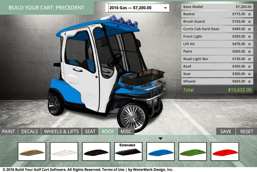 build your own custom golf cart watermark design. Black Bedroom Furniture Sets. Home Design Ideas