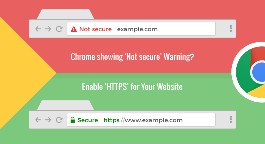 website not secure enable
