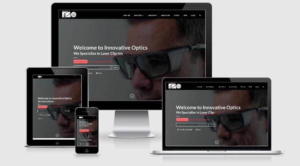innovative optics website design